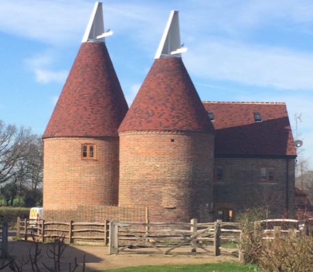 tudor tiles oast house refurbishment